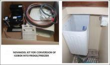 Nuala May Icebox conversion into fridge-freezer