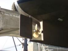 Scallywag prop & rudder