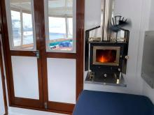 Moon Jelly Cubic Mini wood stove provided heat on a few cool mornings and evenings.